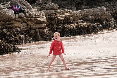 Grandkids playing on the beach