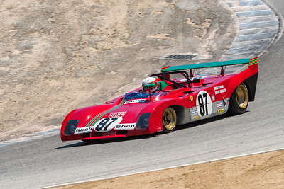 Ferrari 312PB dropping through the Corkscrew