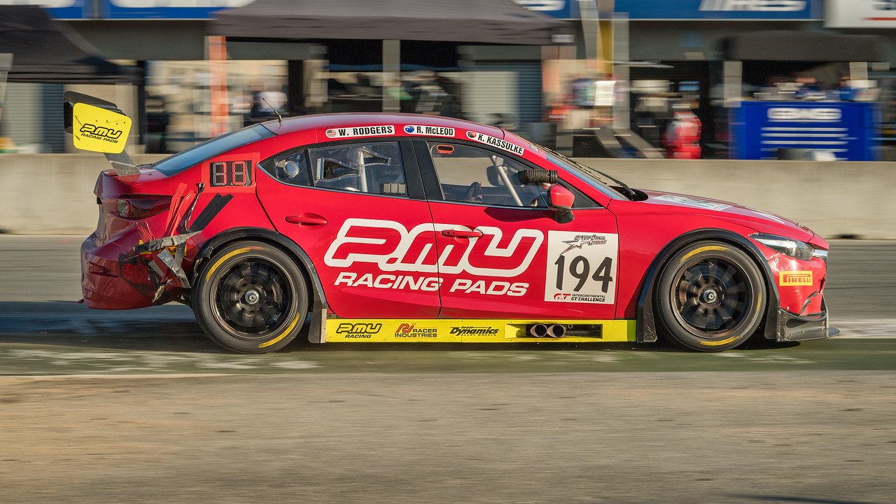 MARC Australia Mazda 3 heads toward the finish with lots of tape