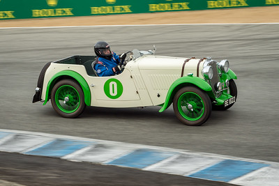 Ronald Stauber driving the 1933 Singer Nine