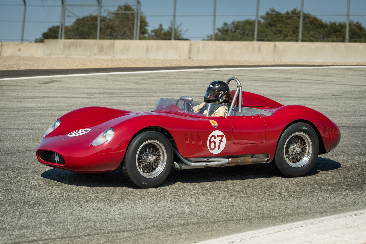 Ned Spieker driving the 1957 Maserati 200SI