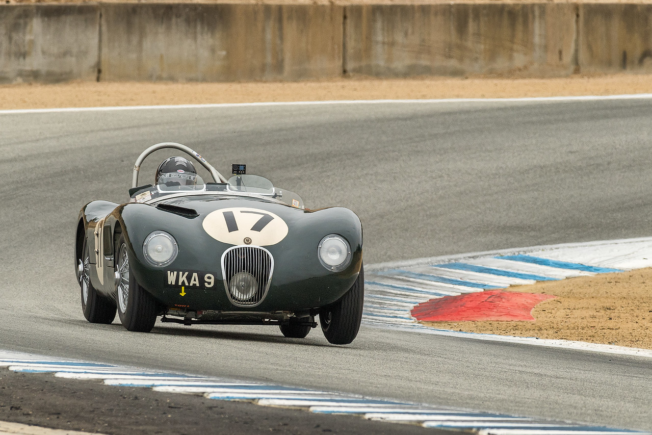 Dyke Idgley driving the 1953 Jaguar C-Type