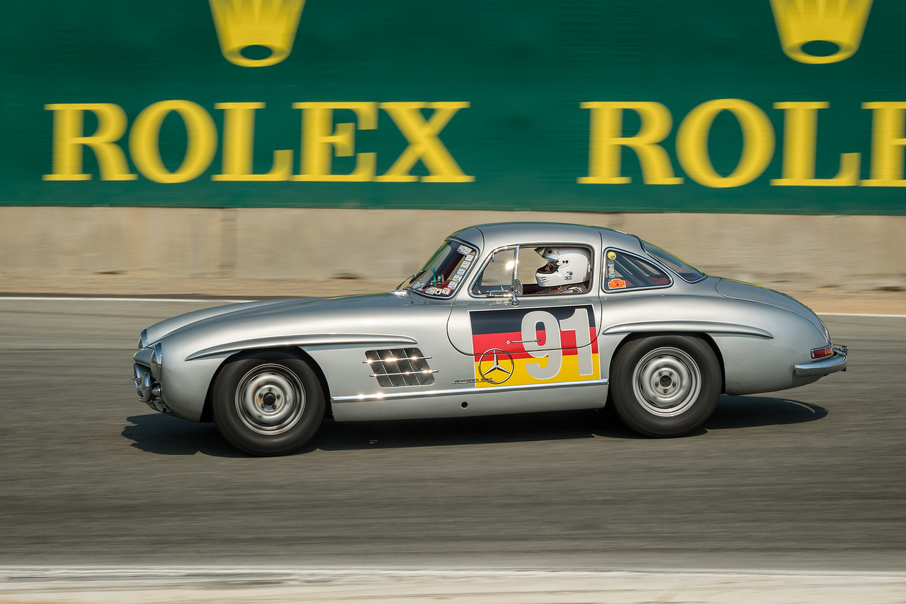 Alex Curtis driving the 1955 Mercedes-Benz 300 SL Gullwing