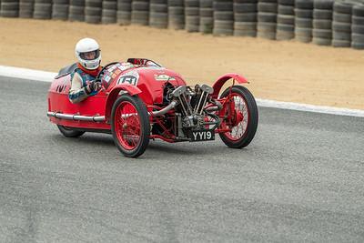 Larry Ayers driving the 1930 Morgan Super Aero