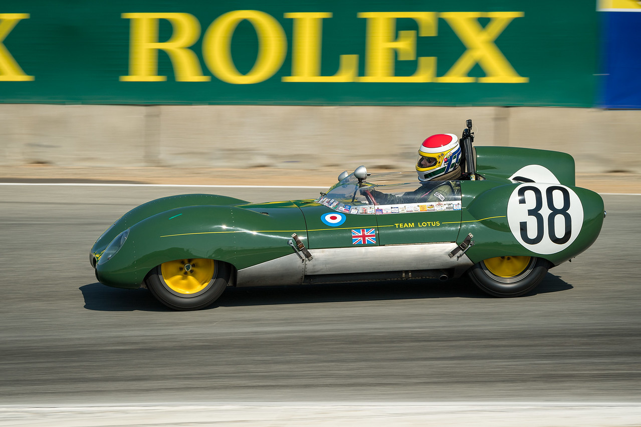 Bruce Miller driving the 1958 Lotus Eleven