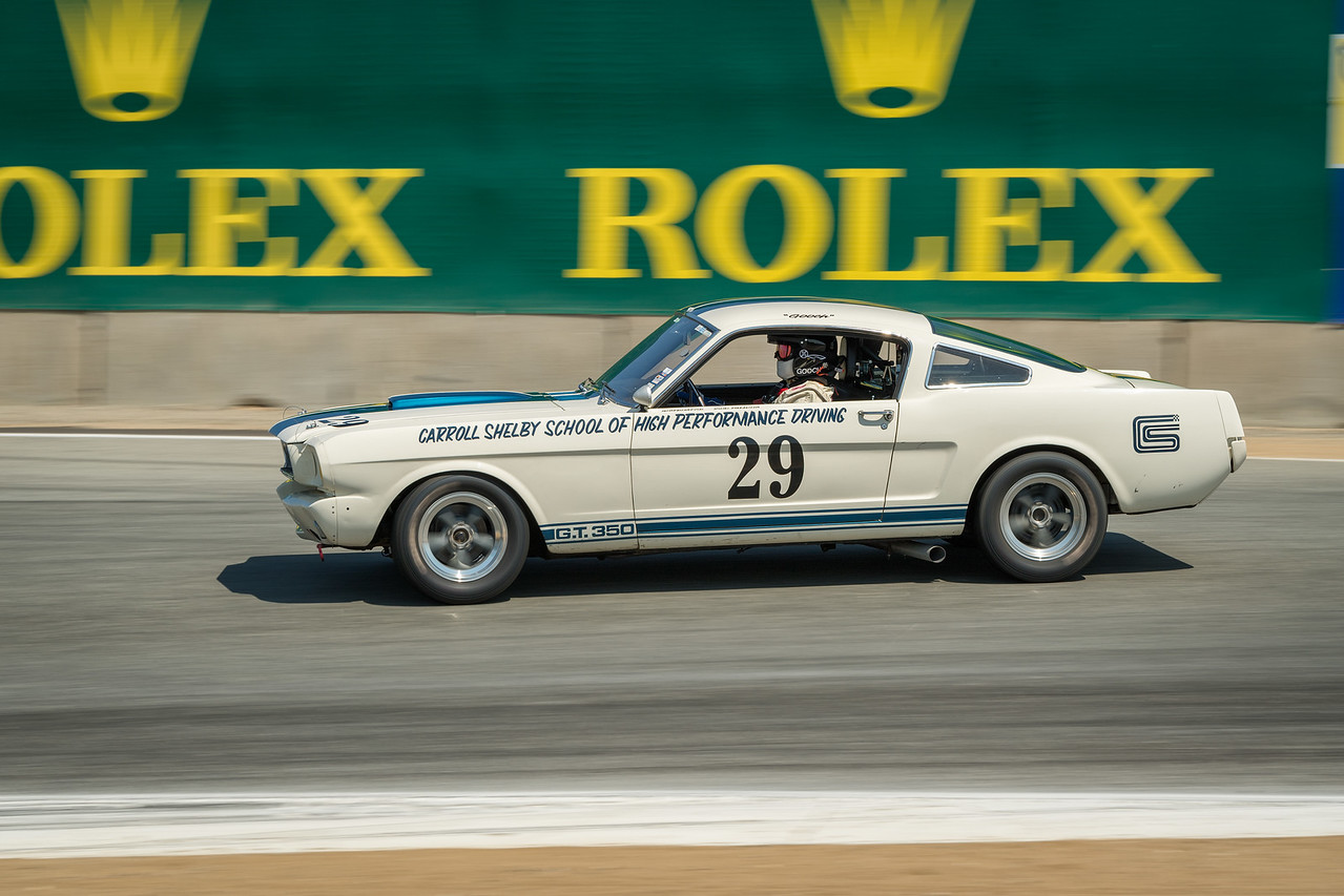 Bruce Kawaguchi driving the 1965 Shelby GT350