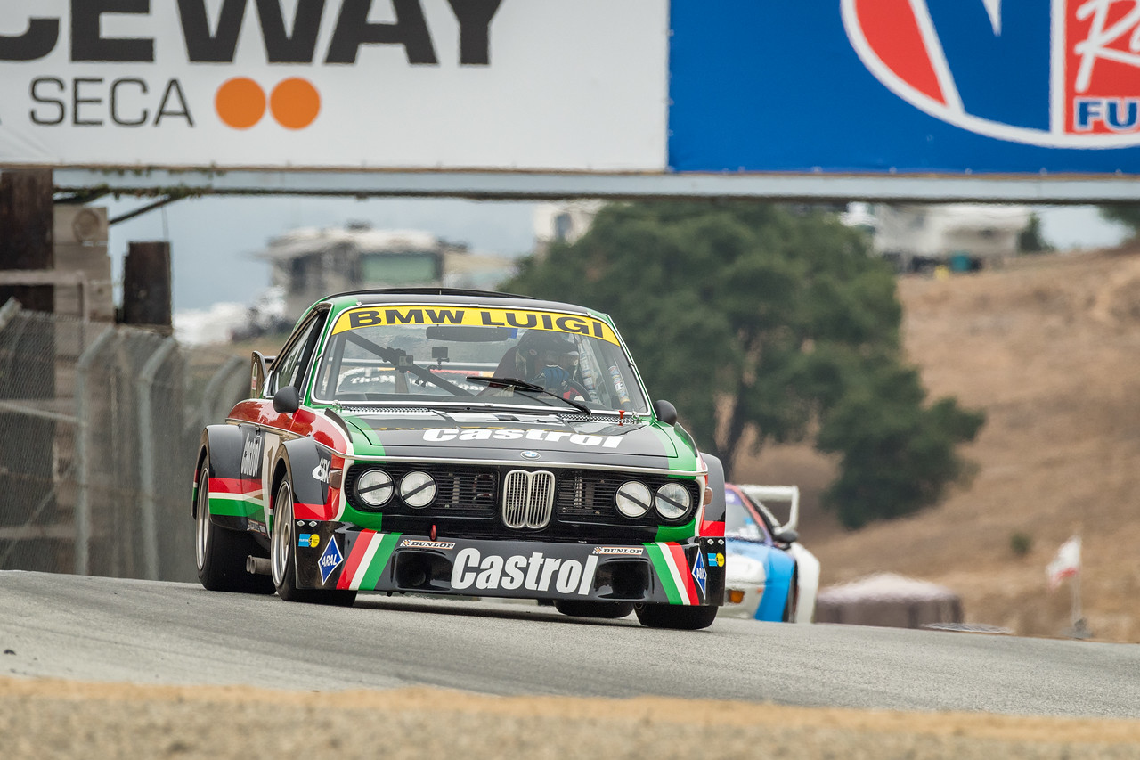 Steve Walker driving the 1973 BMW CSL