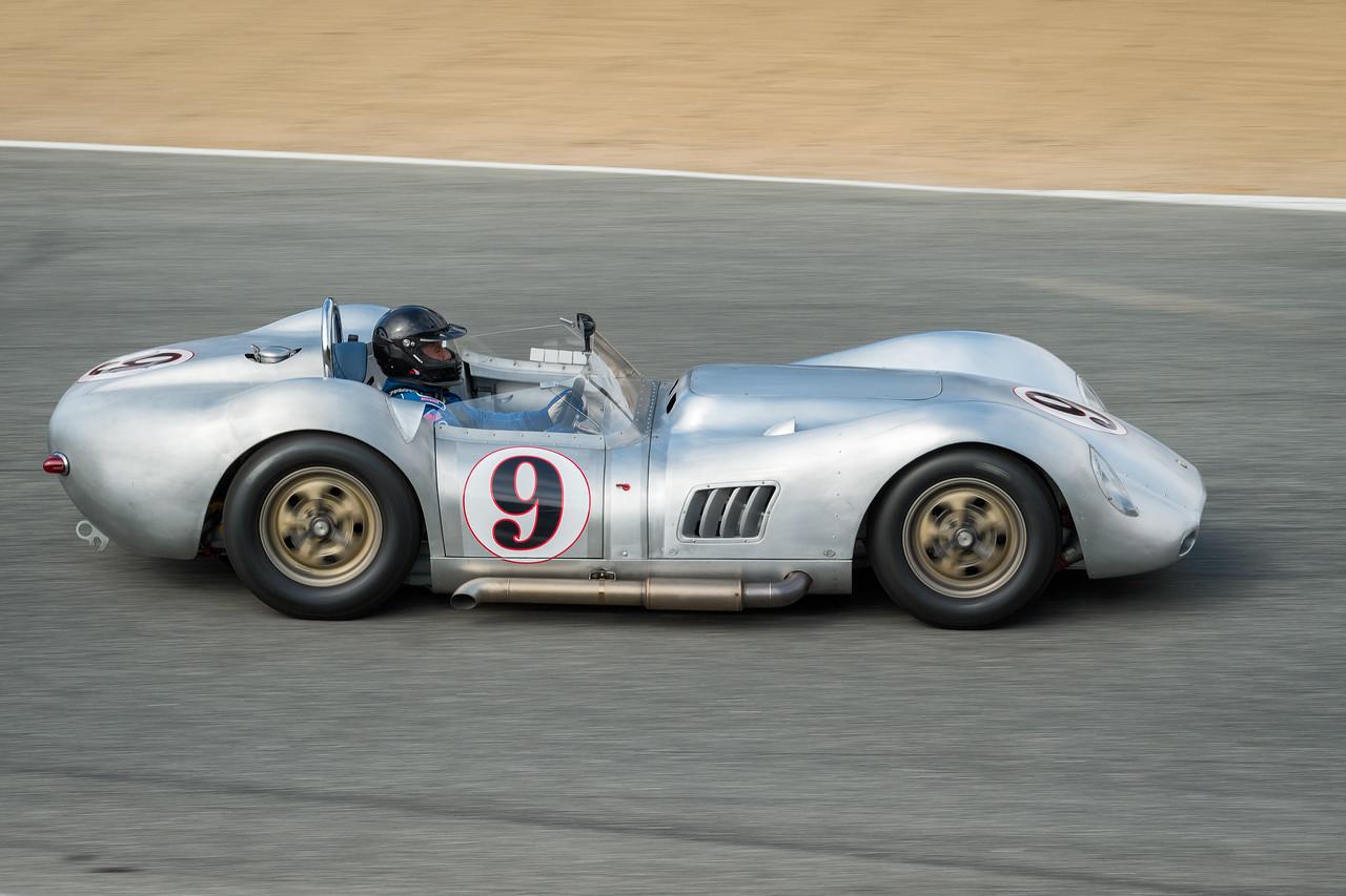Al Arciero driving the 1958 Lister Knobbly
