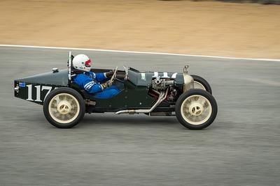 Rick Jeffrey driving the 1937 Triumph Special 9