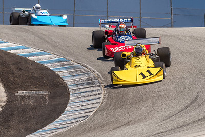 Formula Atlantic cars in the Corkscrew