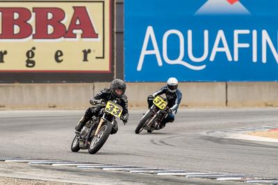 Kevin Hipp 1970 Honda CB350 leads Stephen Hipp 1971 Honda CB350
