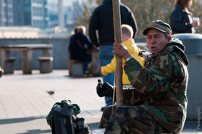 Street performer, Pike Place Market