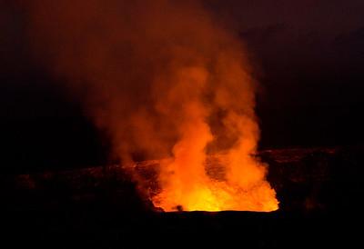 Kilauea volcano erupting
