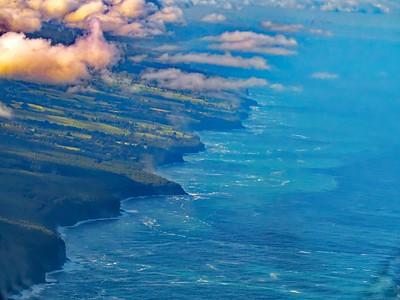 Aerial view of Coastline Hawaii