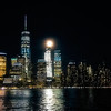 View of New York Skyline in the Night