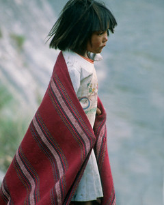 Watchful Tarahumara girl 1993