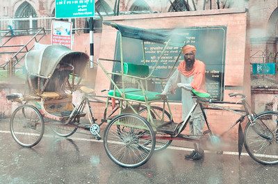 Rikshaw Wallah in the Rain