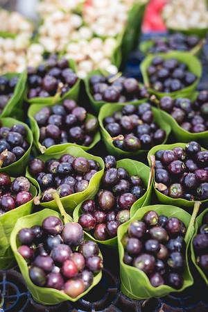Beautiful seasonal wild purple berry called Caranz or Karvandam