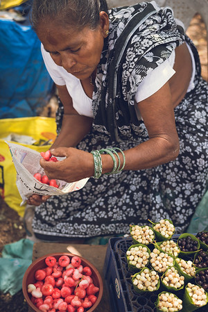 Selling Rose water apple and other wild fruits of Goa