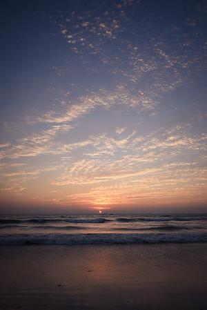 Goa's many sunset sky