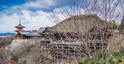 Kyoto temple winter