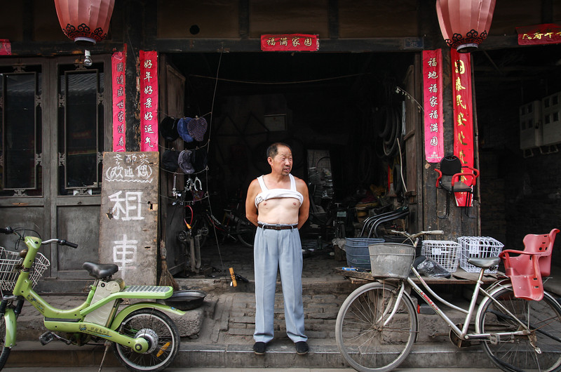 Bike vendor, Pingyao, China