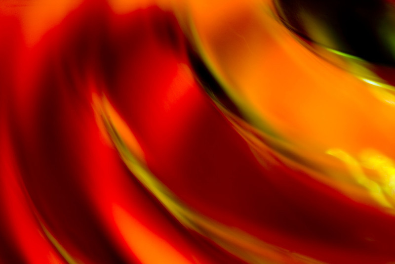 Closeup of colorful glass. Abstract image taken with a high magnification macro lens.