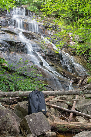 Death Falls. GPS Coordinates: ( 43.8136148, -74.5953824 ) This falls, located on a tributary into Death Stream, cascades almost 70 feet over a broad faced cliff. Although the best viewing is during high water, this easily assessable falls takes only 5+ minutes to walk to.