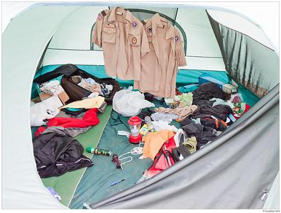 Alex and Ben's tent.