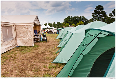Scout tents were arranged in a big circle around the common area.