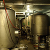 The walk in. 20 Bbl tanks hold beer waiting to be kegged or bottled.