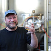 """AHA member tastes the wort. Consesus, """"very apple-y"""" with a subtle mint flavor."""