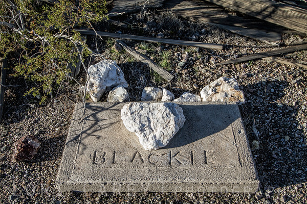 Blackie's grave at the Crusty Bunny Ranch