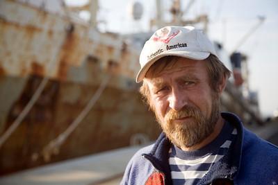 Ukranian sailor, port of Huelva, Andalusia, southwestern Spain