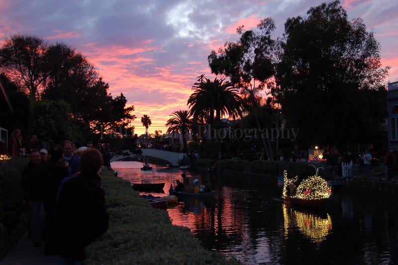 Venice Canal  Christmas Boat Parade