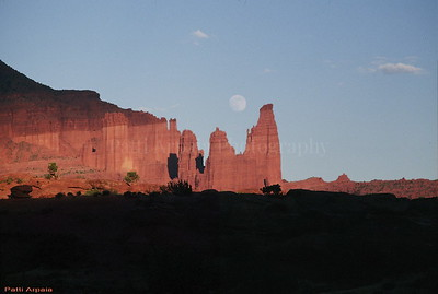 Full moon over Moab, UT