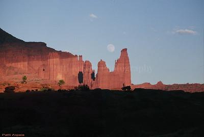 Full moon over Moab, UT