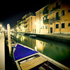 Fondamenta San Girolamo (right) and Carlo Coletti (left) by night, Cannaregio, Venice, Italy