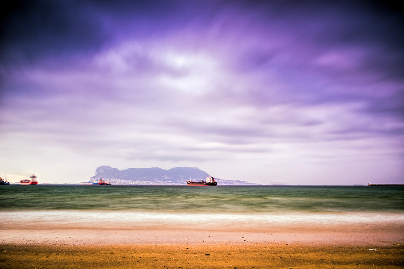 Gibraltar from El Riconcillo beach, Algeciras (Spain)