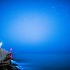 Angler on a starry night, Ayamonte, Spain.