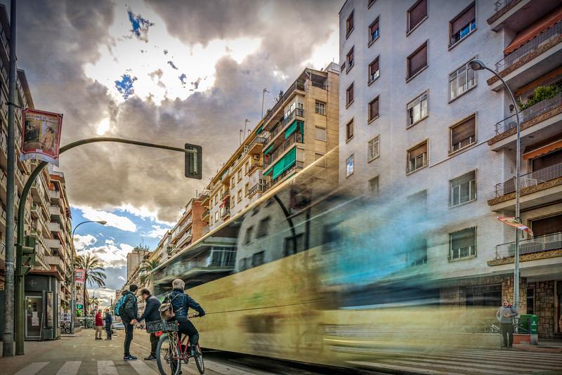 Urban scene, Avenida de la Republica Argentina, Seville, Spain