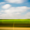 Wheat field from a moving car, Andalusia, Spain.