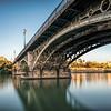 Triana bridge, Seville, Spain. Long exposure shot.