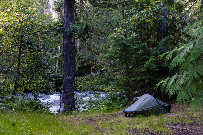 Cat Creek Campground<br /> Morning at Cat Creek.