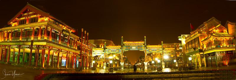 Night on Beijing, China