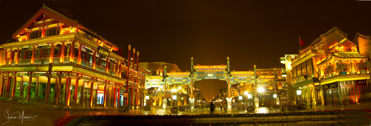 Night on Beijing, China