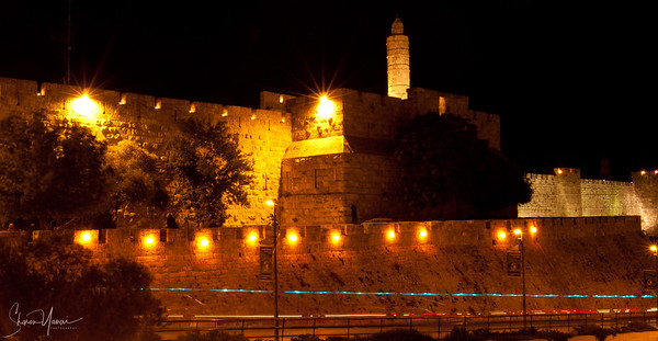 Night on the David Tower, Jerusalem, Israel