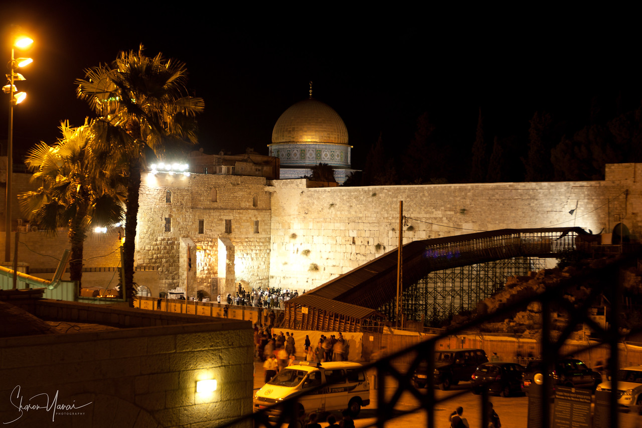 The Western Wall at night, Jerusalem, Israel