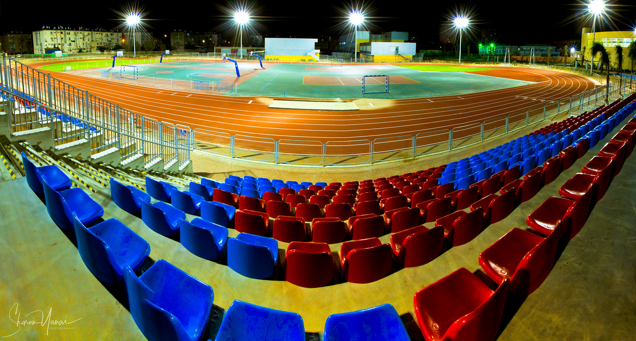 Night on the Sport Stadium, Kiryat Yam, Israel