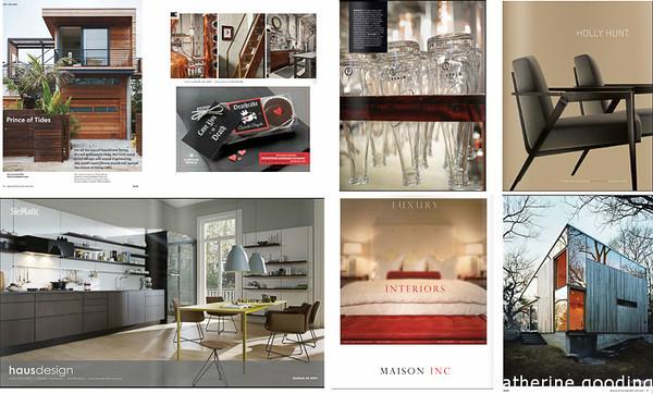 P52 Tear Sheet 01<br /> Dwell - Mathew Scott, Gray - Alex Hayden, Gray - Cupcake Royale,  Gray - Alex Hayden, Luxe - Holly Hunt, Luxe - Haus Design, Luxe - Maison Inc., Dwell - Mark Mahaney